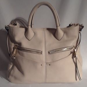 Cream leather bag by Aimee Kestenburg